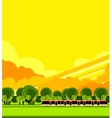 train travel the countryside vector image vector image