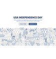 usa independence day banner design vector image vector image