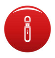 usb flash drive icon red vector image vector image