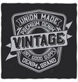 vintage label design with lettering composition vector image vector image