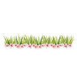 watercolor banner with green grass and vector image vector image
