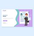 website company service insurance broker vector image