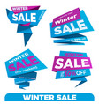 winter sale sale label price tag banner badge vector image vector image
