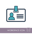 badge outline icon workspace sign vector image