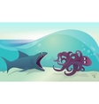 shark for octopus vector image