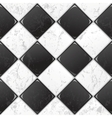 black and white tile vector image