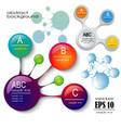 design set of infographics vector image