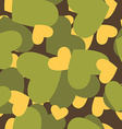 Military texture for love Camouflage army seamless vector image