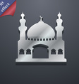 Turkish architecture mosque icon symbol 3D style vector image