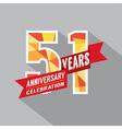 51st Years Anniversary Celebration Design vector image