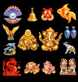 a set talismans that bring good luck vector image vector image