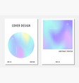 abstract cover set with holographic elements vector image vector image