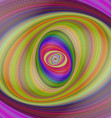 Abstract multicolored hypnotic fractal background vector image vector image