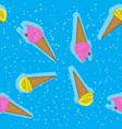 abstract seamless pattern vanilla ice cream vector image
