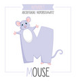 alphabet letter m and mouse vector image vector image