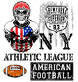american football - vintage print for boy vector image vector image