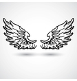 Angel wings doodle style vector | Price: 1 Credit (USD $1)