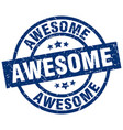 awesome blue round grunge stamp vector image vector image