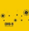 background with bacillus coronavirus vector image vector image