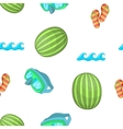 Beach pattern cartoon style vector image vector image