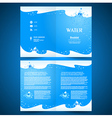 booklet catalog brochure folder water aqua splash vector image vector image