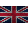 British Flag Grunge vector image