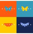 butterfly set logo design templates vector image vector image