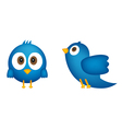 Cartoon of blue bird vector image
