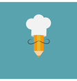 Chef hat and italian mustache with pencil Menu vector image vector image