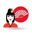 chinese culture design over white background vector image vector image