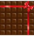 Chocolate With Red Bow vector image vector image