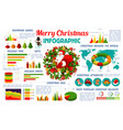 christmas holiday infographic poster vector image