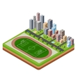 City stadium vector image
