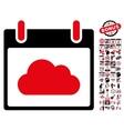 Cloud Calendar Day Flat Icon With Bonus vector image vector image