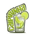 cocktail caipirinha vector image vector image