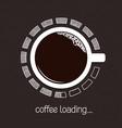 coffee loading progress vector image vector image