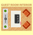 cozy guest room interior with furnishing interior vector image vector image