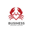 crab love logo style vector image vector image