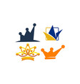 crown icon template set vector image