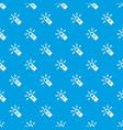 cursor finger pattern seamless blue vector image vector image