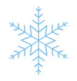 cute snowflake cartoon vector image