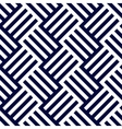 Dark blue and white woven stripes seamless pattern vector image