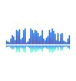 design of digital music wave bright blue vector image vector image