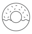 donut thin line icon food and sweet cake sign vector image vector image