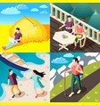 downshifting isometric concept vector image vector image