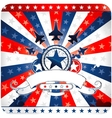 elements and icons related to american patriotism vector image