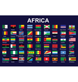flags of Africa vector image vector image