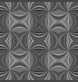 grey seamless psychedelic abstract curved stripe vector image vector image