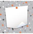 halloween note paper vector image vector image