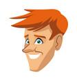 head man character human profession vector image vector image